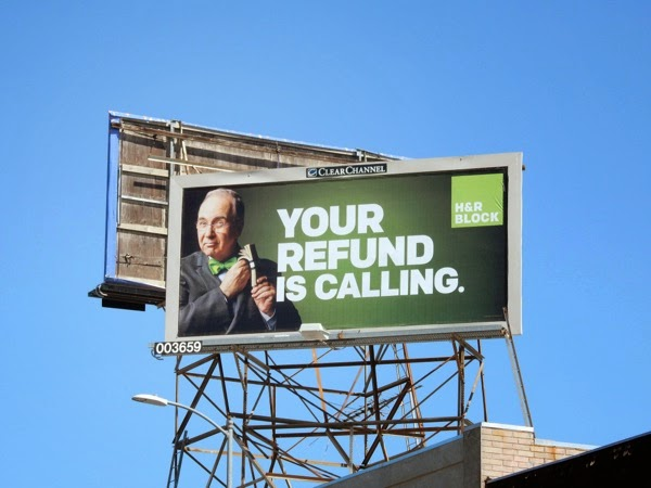 HR Block Your refund is calling billboard