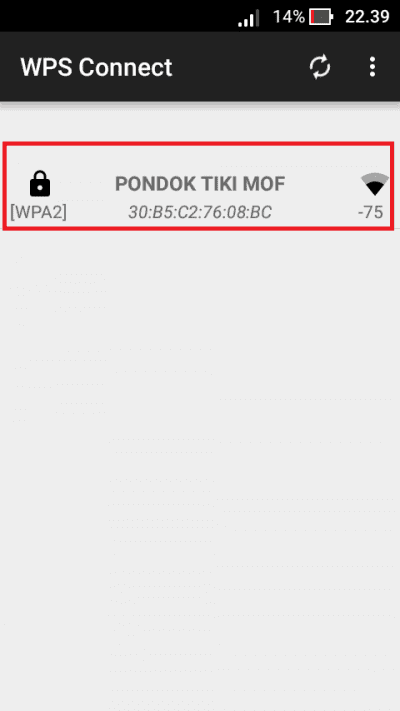Hack Password WiFi di Android