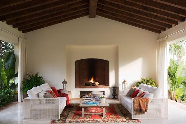 Un casa de ensue o en chic dec decoraci n for Sofa exterior hierro