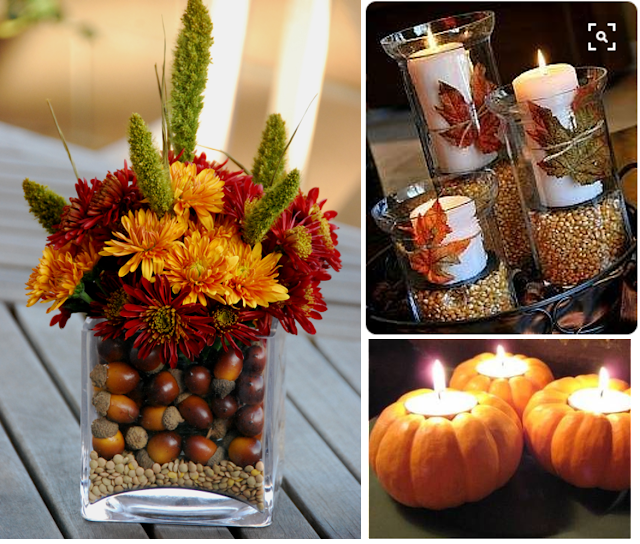 Thanksgiving decor using items you already have at home