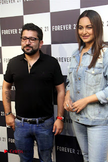 Actress Sonakshi Sinha Pos in Denim Jeans at Forever 21 Shop Launch at Express Avenue Mall  0005.jpg