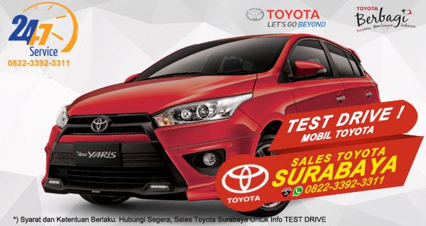 Info Test Drive Toyota Yaris Surabaya