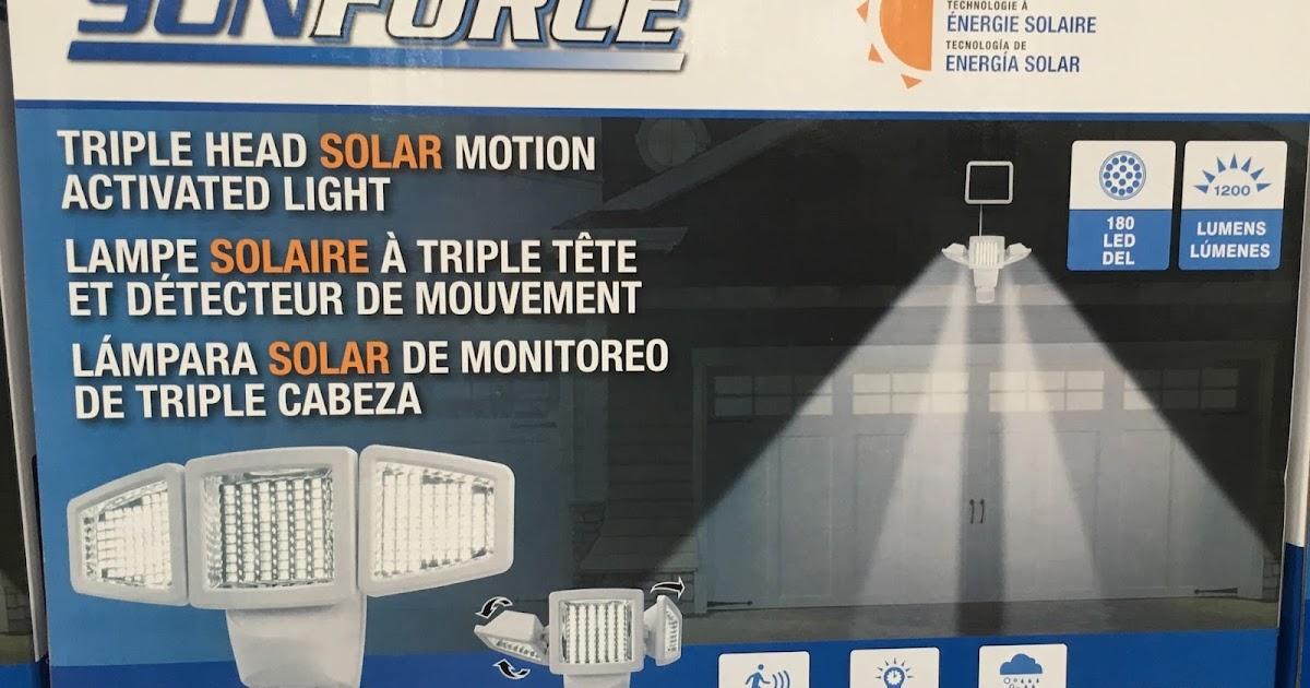 Sunforce Triple Head Solar Motion Activated Light Costco