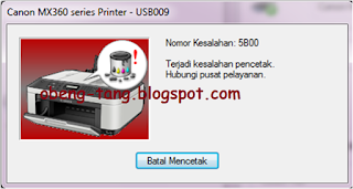 Service Printer Canon MX 366 Error Ink Abserber is Full