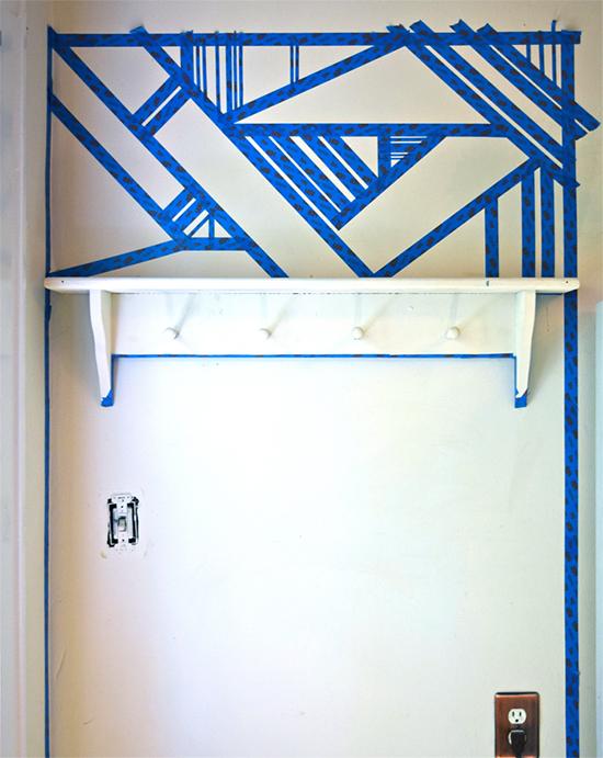 mosaico na parede, wall painted, wall art, pintar parede, faça você mesmo, diy, parede pintada