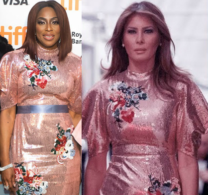mo abudu melania trump dress