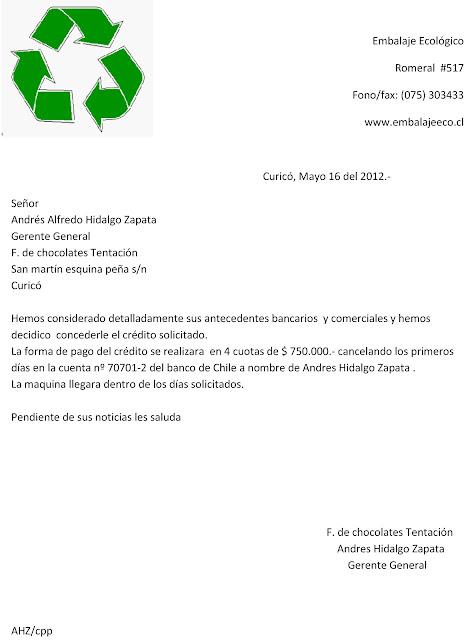 Carta de solicitud de credito Prestamos de dinero rapido chiclayo