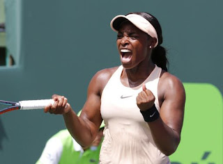 Stephens rallies for spot in Miami Open final