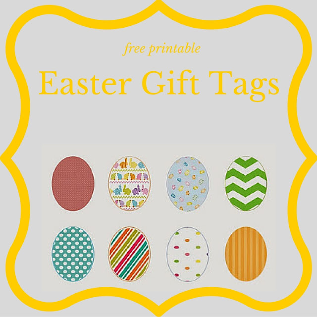 Easter gift tags - free printable