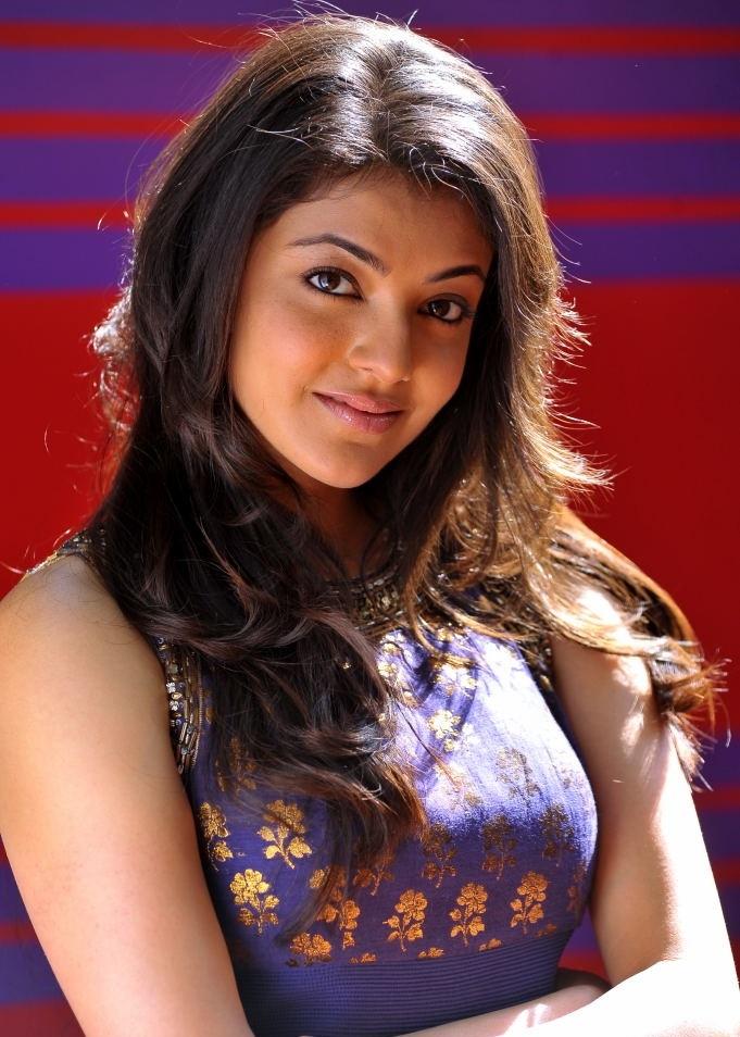 Tollywood Actress Kajal Agarwal Chubby Cheks Face Closeup In Green Dress