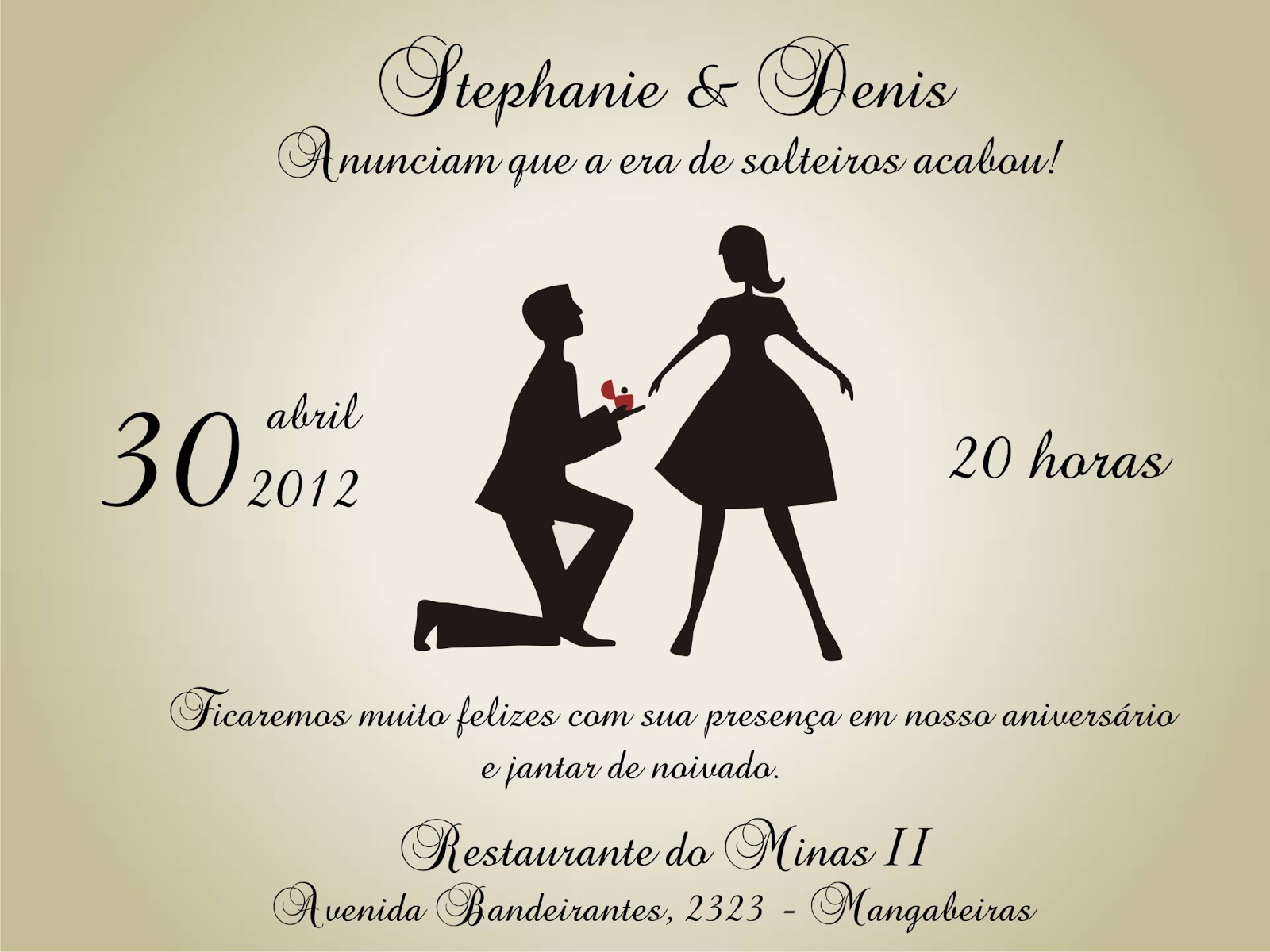 Frases Para Convite De Noivado Evangelico: Ateliê Artes&Mimos: Convite De Noivado