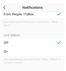 How to Turn Off Live Notifications on Instagram