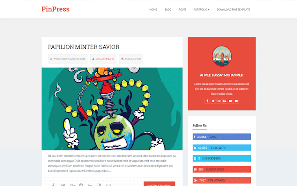 PinPress Free Blogger Template