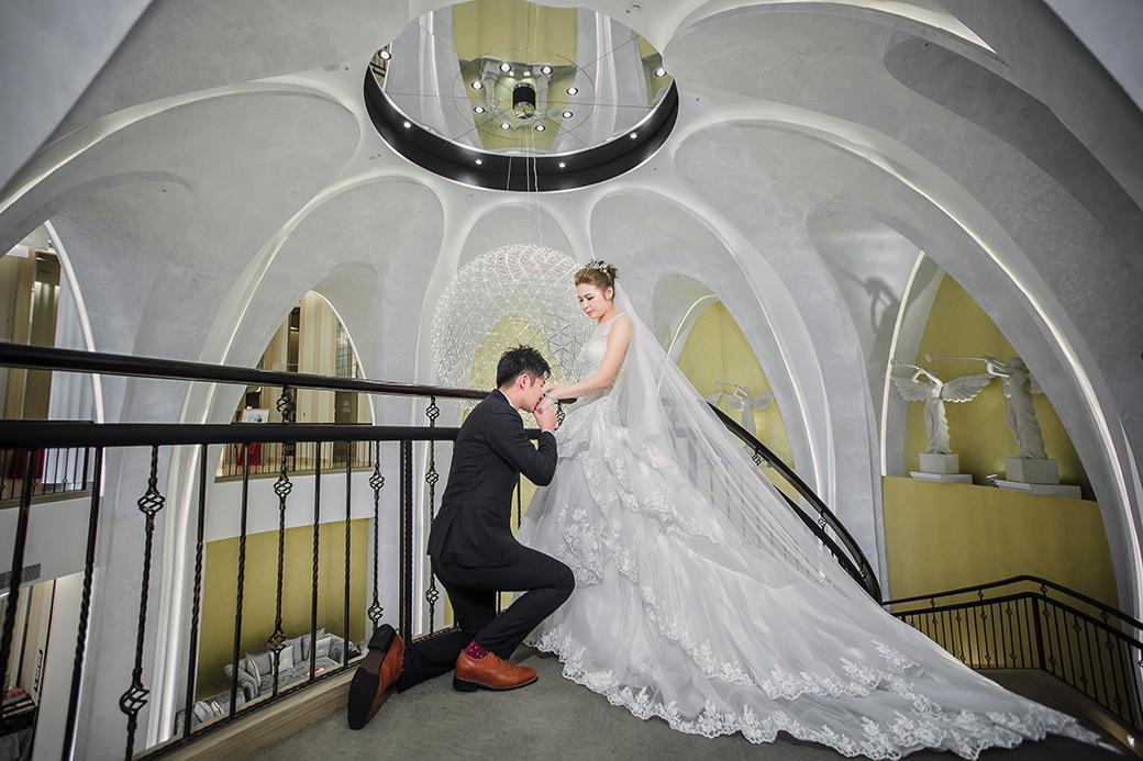 桃園晶宴 婚紗 晶宴旋轉樓梯