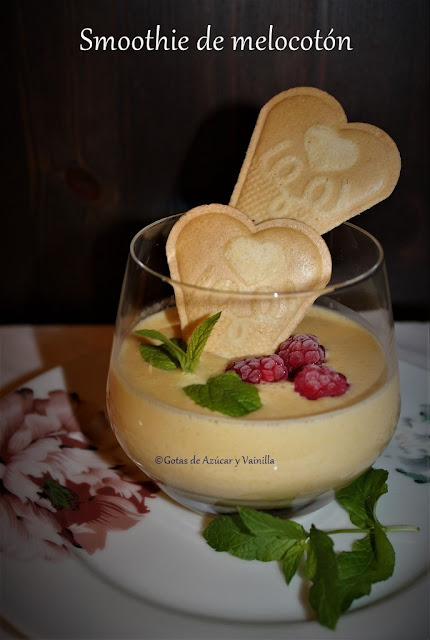 peach-smoothie, smoothie-de-melocoton