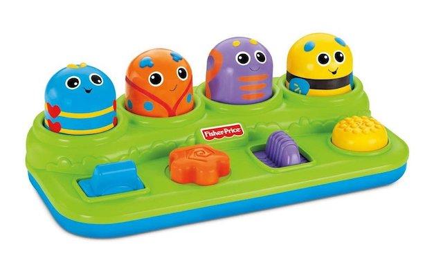 Small baby toys will do as well. I like the products from Fisher-Price