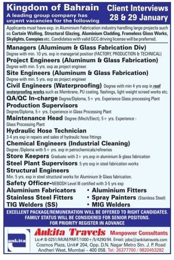 Ankita Travels Job Opportunity for Nebosh certified HSE officer