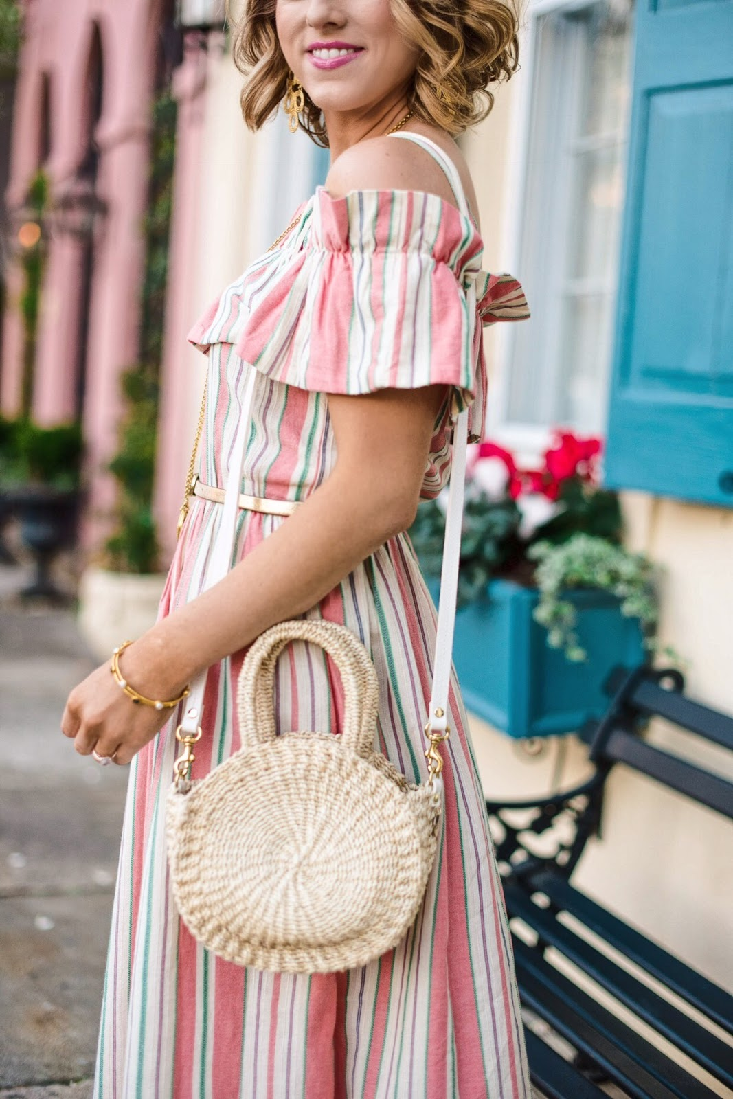 Striped Midi Dress in Charleston, SC. - Something Delightful Blog