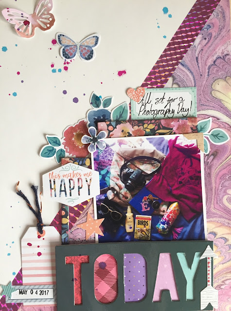 "Today || 9x12"" Scrapbook Layout"
