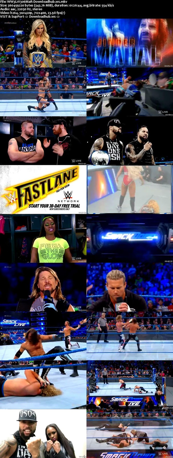 WWE Smackdown Live 06 March 2018 480p HDTV Download