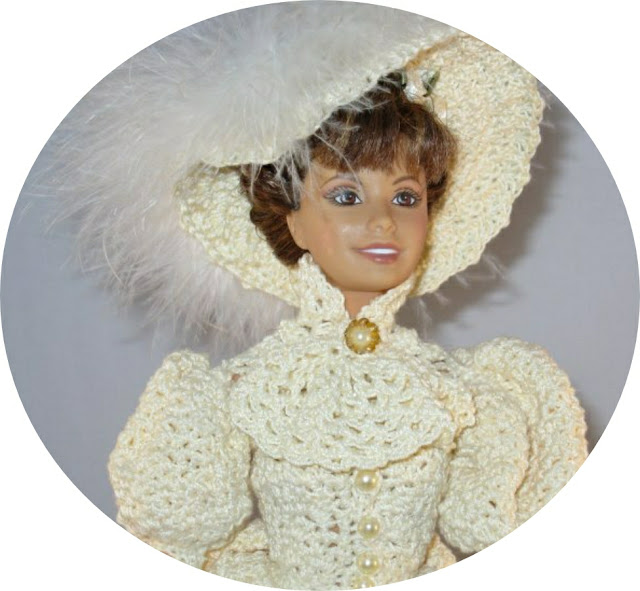 Barbie Crochet 1895 Afternoon Dress Costume