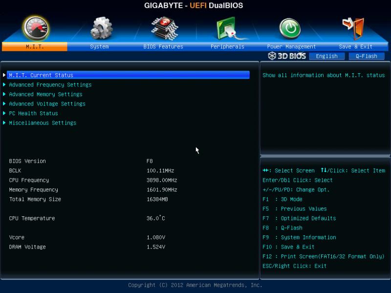 GigabyteマザーボードのUEFI設定方法 : hackintosh_ja