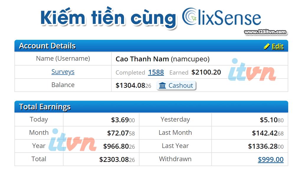 Các cách để kiếm nhiều tiền hơn từ Clixsense
