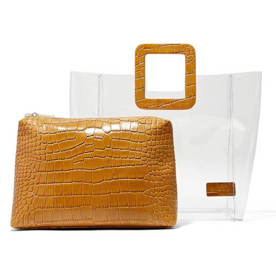 Transparent Tote With Removable Pouch Inside