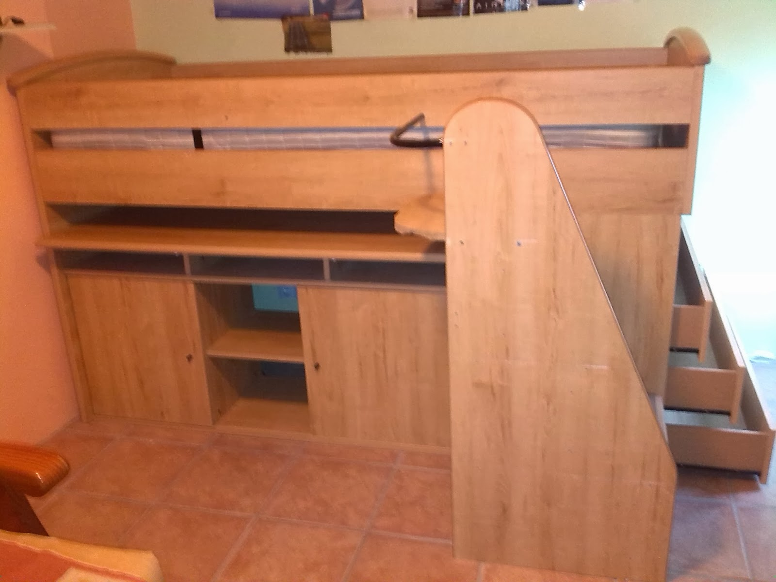 Cabin Bed With Pull Out Desk Digame For Sale For Cabin Bed