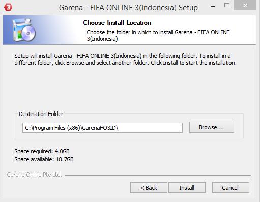 Cara Install FIFA Online 3 Garena Indonesia Terbaru 24