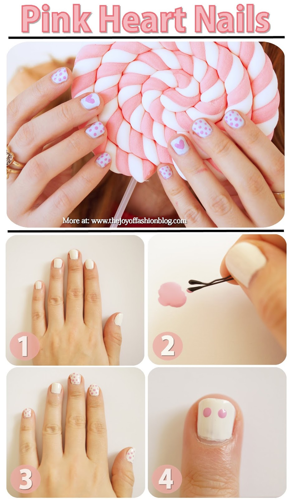 Valentines Nails Tutorial. Click through for step by step!