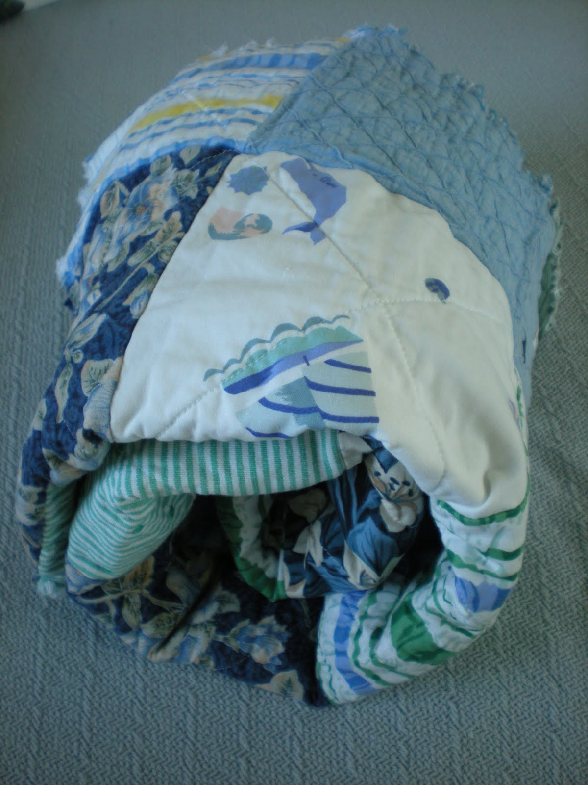 All Squared Up Making A Rag Quilt Part Five