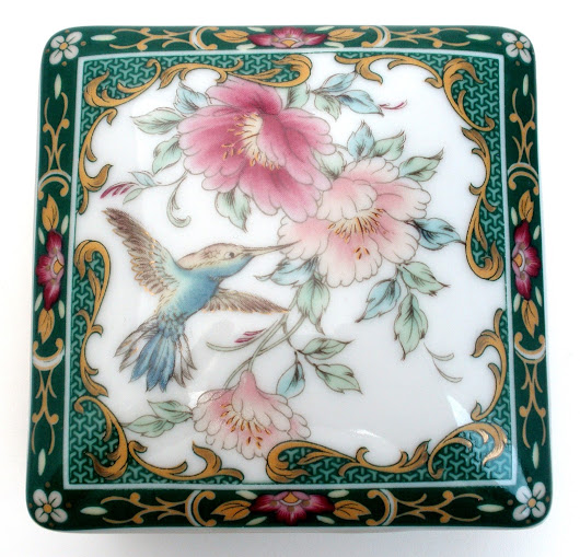 Vintage Japanese Porcelain Trinket Jewelry Boxes
