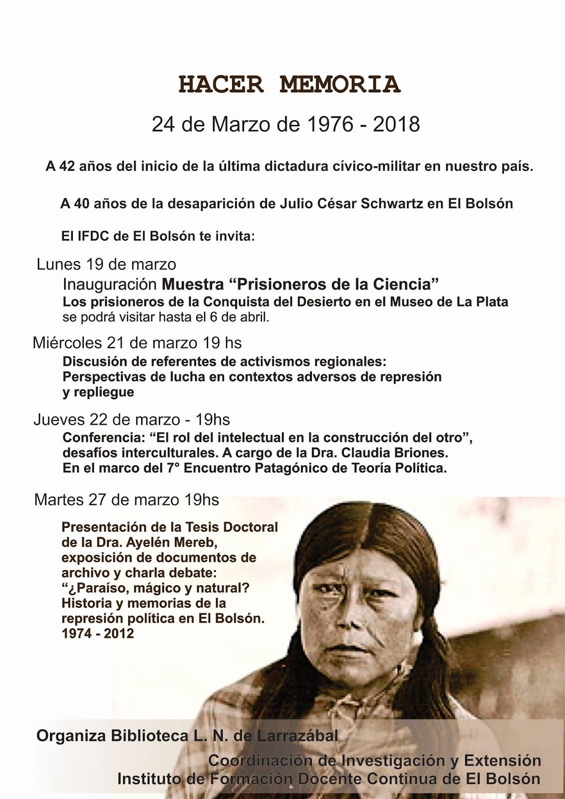 Día de la Memoria, Verdad y Justicia en el marco del proyecto \