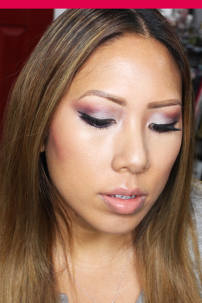 paired this look with a nude, glossy lips since all of the focus was ...