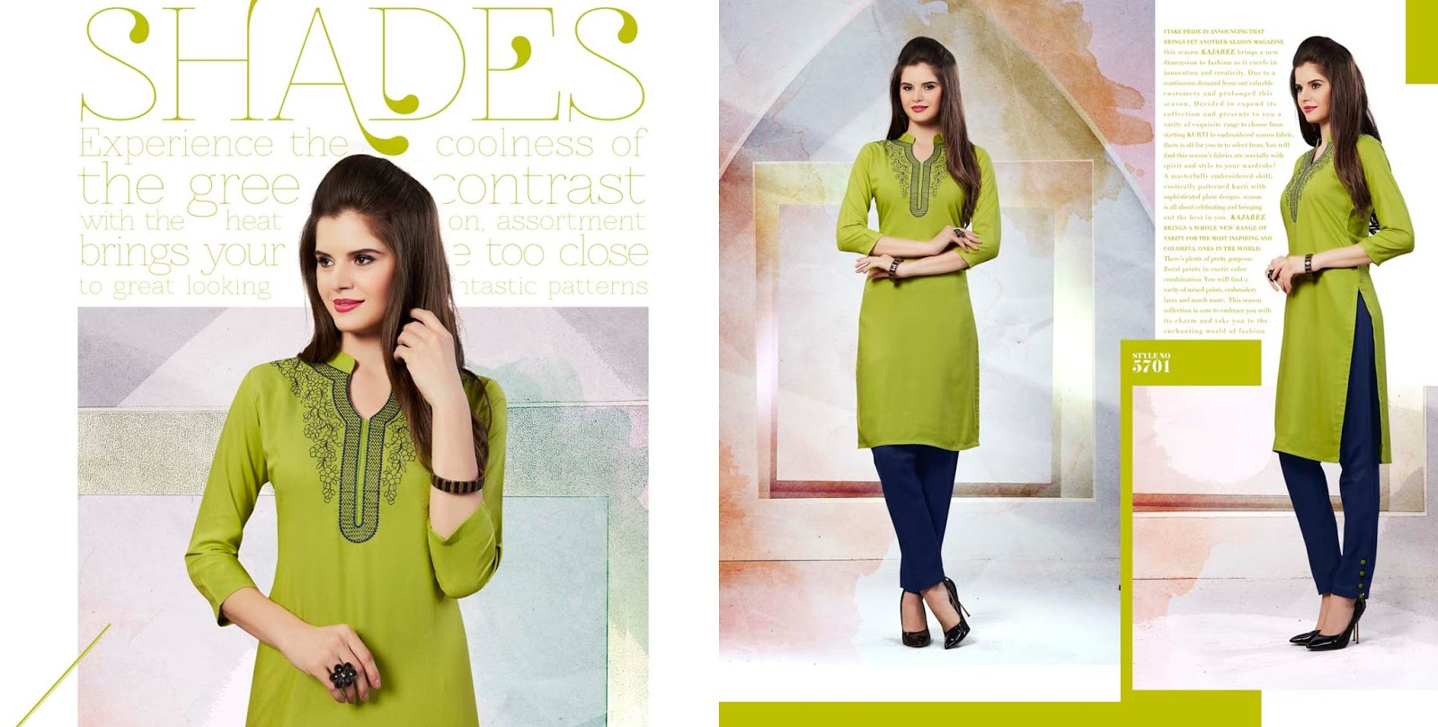 Lily -Rayon Embroidery Gorgeous Looking Kurti