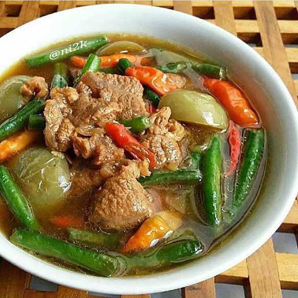 Resep Asem Asem Daging Bumda Ninik Memang Enak Segerr, di Makan Hangat Plus Cabe Rawit Maknyussss
