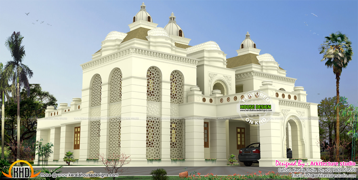 Islamic style house architecture kerala home design and for Kerala house interior arch design