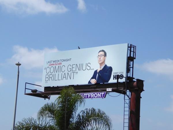 John Oliver 2016 HBO Emmy FYC billboard