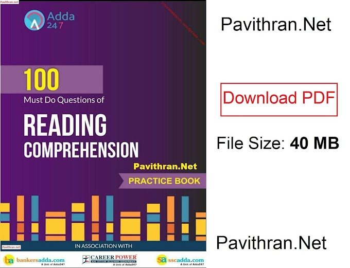 100 Reading Comprehension Paid e-Book from Adda247 PDF Download