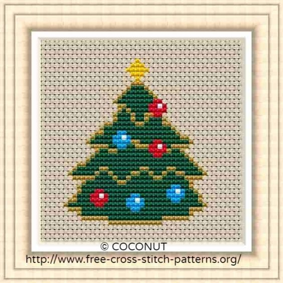 Free Printable Christmas Ornament Cross Stitch Patterns.Mini Christmas Ornament 1 Free And Easy Printable Cross