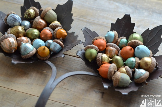 Painted acorns