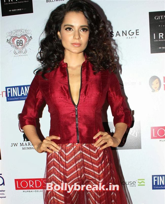 Kangana Ranaut, Top Bollywood Celebs at India Resortwear Fashion Week 2013