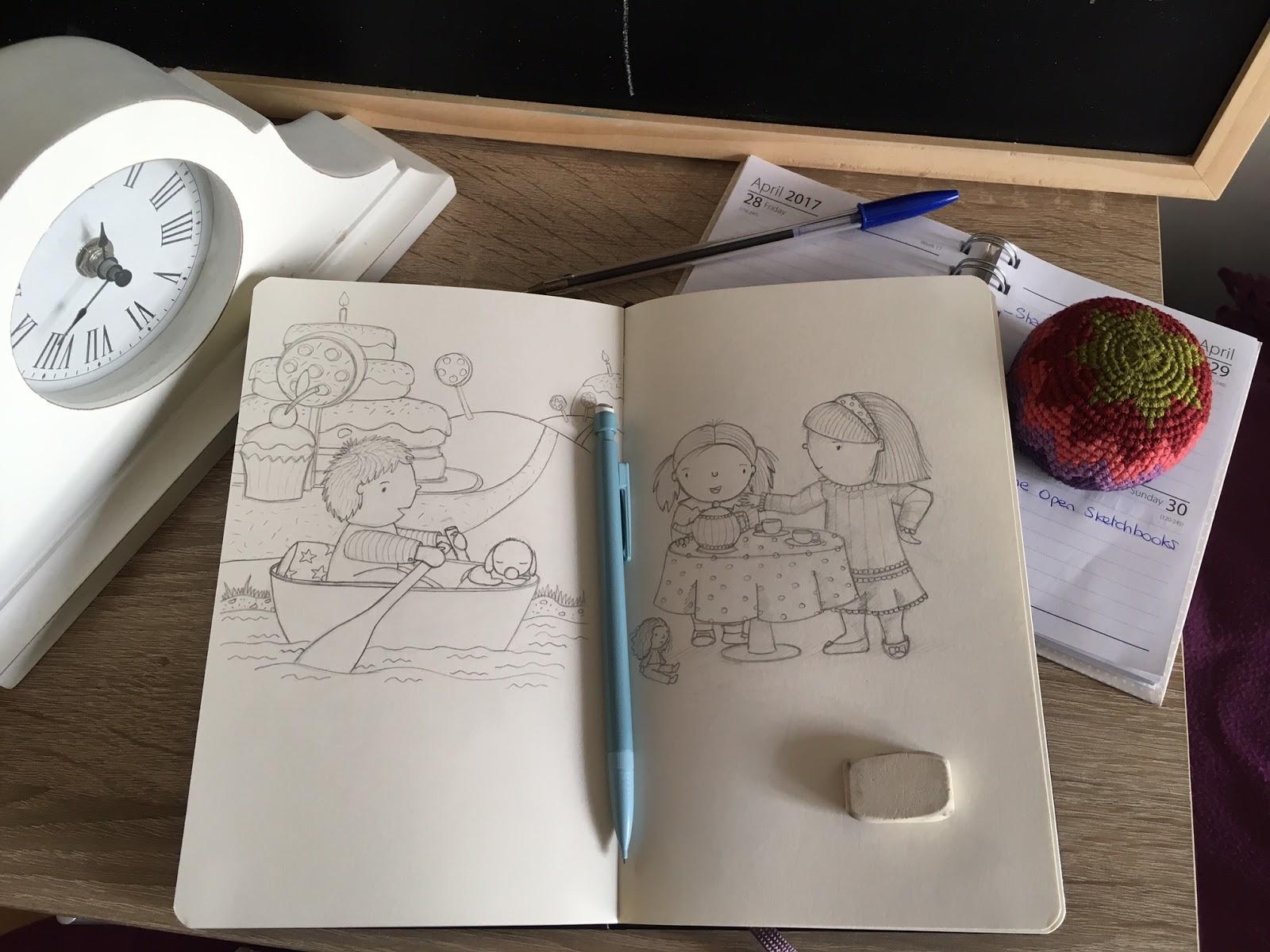 Open Sketchbooks Summer 2017 Part 2 Words Pictures