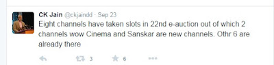 WOW Cinema and Sanskar TV Won dd direct dth Slot