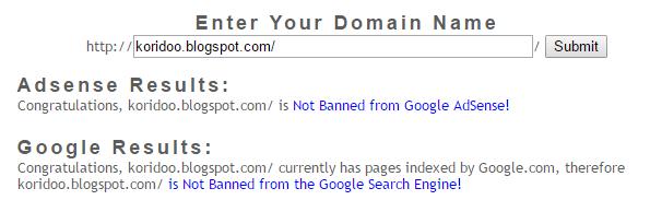 Check akun adsensemu dengan google banned check
