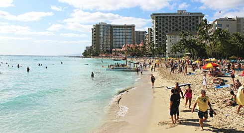 waikiki beach oahu hawaii
