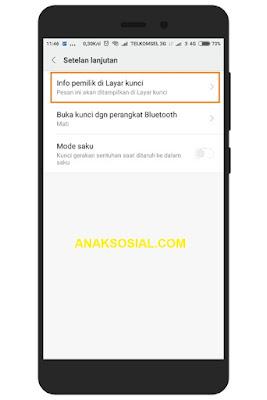 Langkah Langkah Membuat Nama Pemilik di Layar Kunci Xiaomi 3