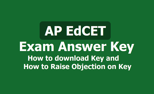 AP EdCET Answer key 2019, How to download? and How to raise Objection on Answer Key