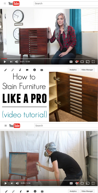 Video Tutorial Learn how to stain furniture like a pro at home!